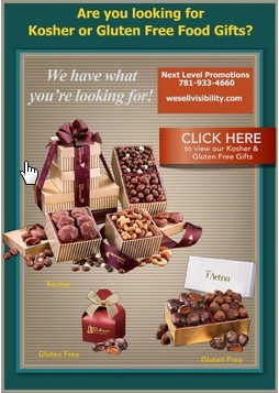 Gluten free and Kosher holiday food gifts for those with dietary retrictions